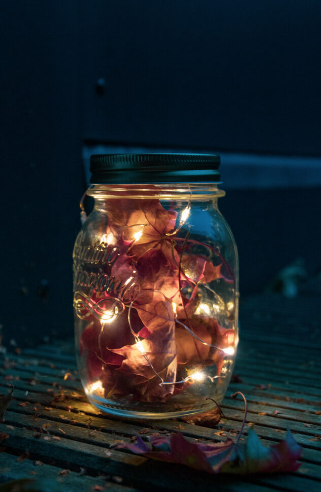 Fall leaves and fairy lights are the perfect addition to your Fall decor! Here are 20 spellbinding fall mason jar crafts DIY ideas!
