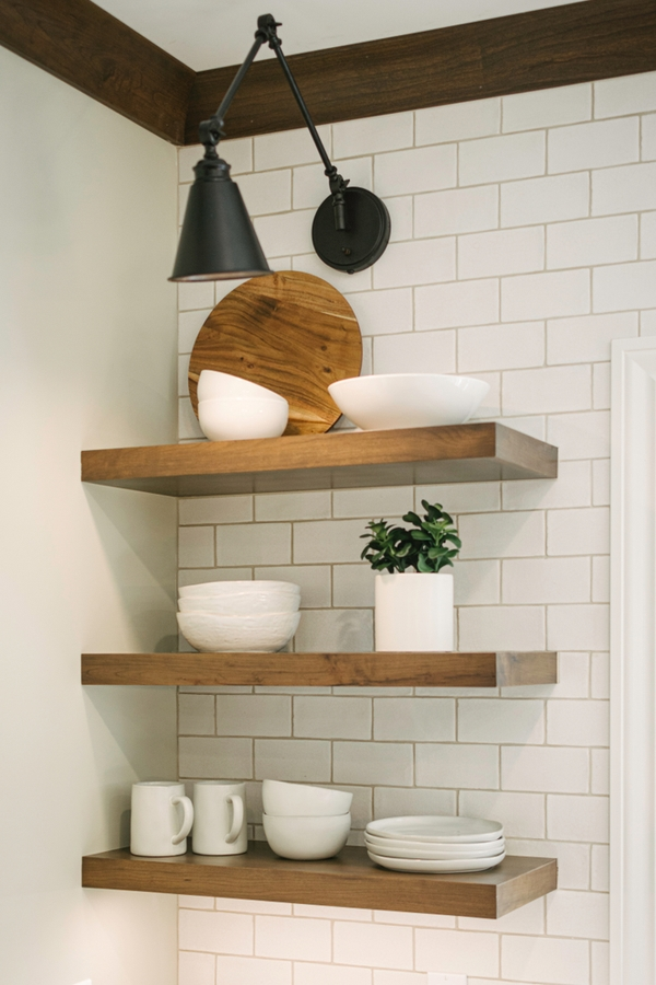 Do you love amazing rustic home DIYs? If you do, you will love these ideas! Floating wood shelves will always be a good idea to add to your home!