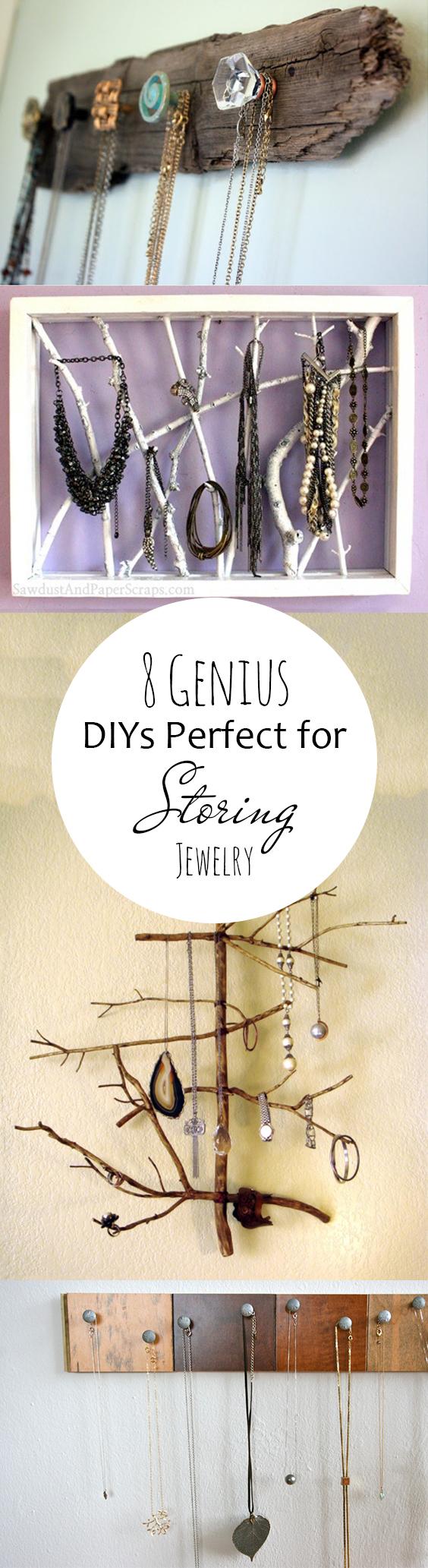 Storing jewelry, jewelry storage, DIY jewelry storage, popular pin, DIY home, home decor, DIY home storage.