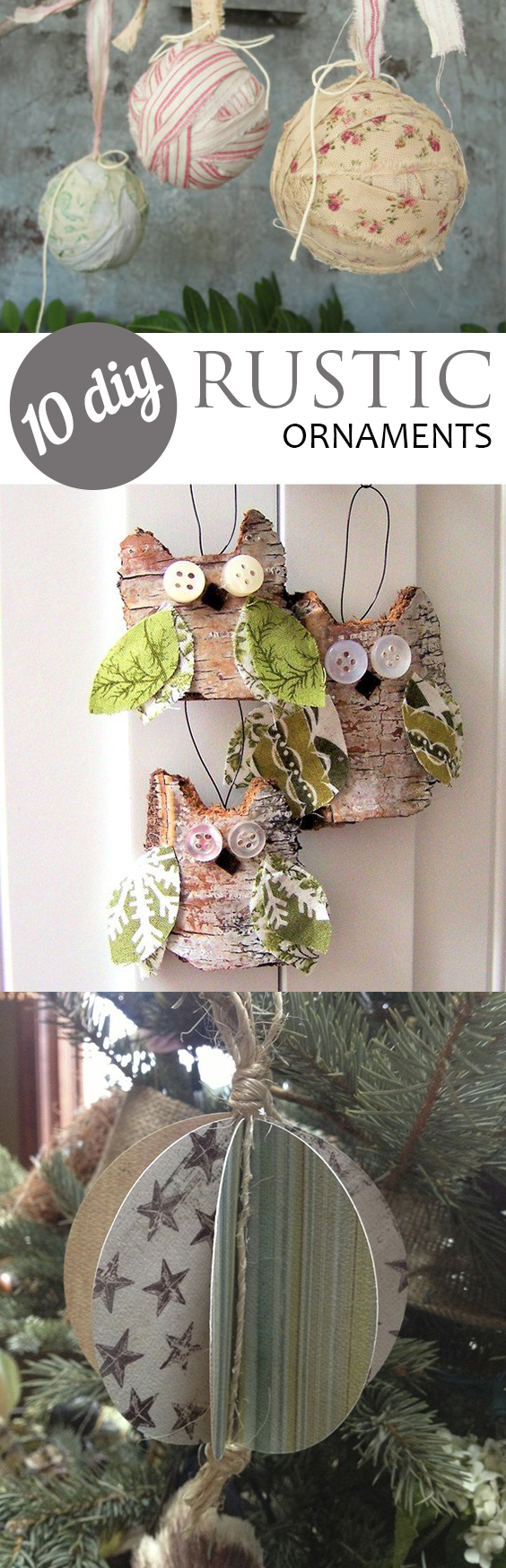 Rustic Christmas Ornaments, Rustic Holiday Ornaments, Holiday Ornaments, DIY Christmas Tree Ornaments, Easy Holiday Ornaments, SImple DIY Christmas Ornaments, Crafts for Christmas, Popular Pin