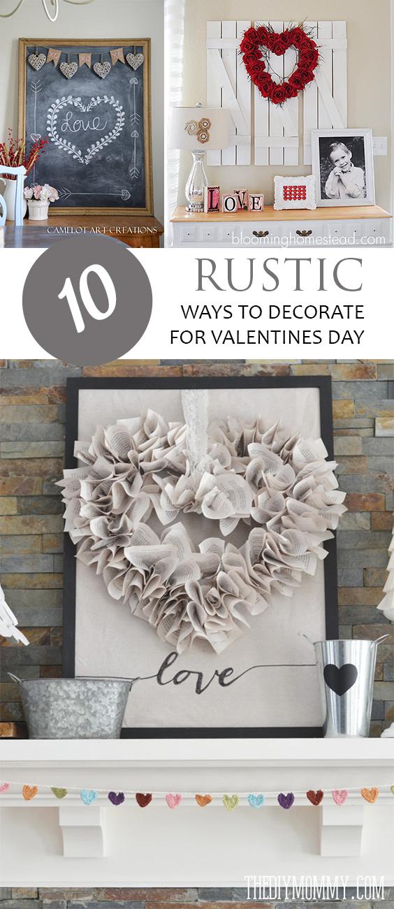 Valentines Day Decor, Valentines Day Decor Ideas, Decor Ideas, Easy Ways to Decorate for Valentines Day, Valentines Day Organization, Holiday Decor Tips, Valentines Day Rustic Decor.