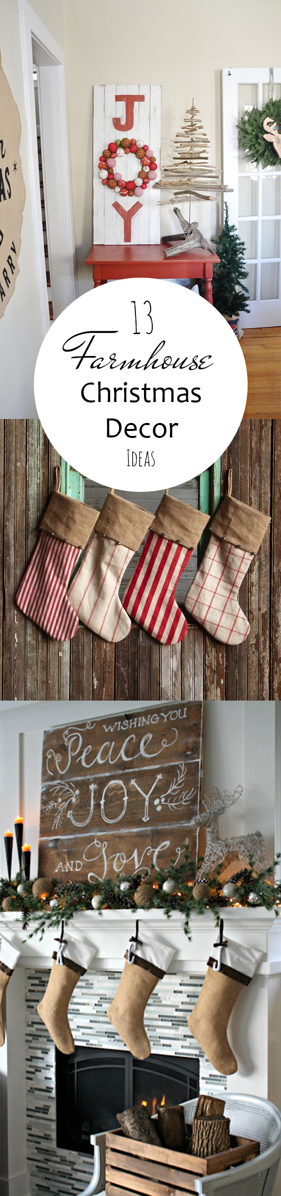 Farmhouse Christmas, Farmhouse Christmas Decor, Farmhouse Decor Ideas, Holiday Decor, Easy Rustic Christmas Decorations, Easy Farmhouse Decorations, Popular Pin, Easy Christmas Decor