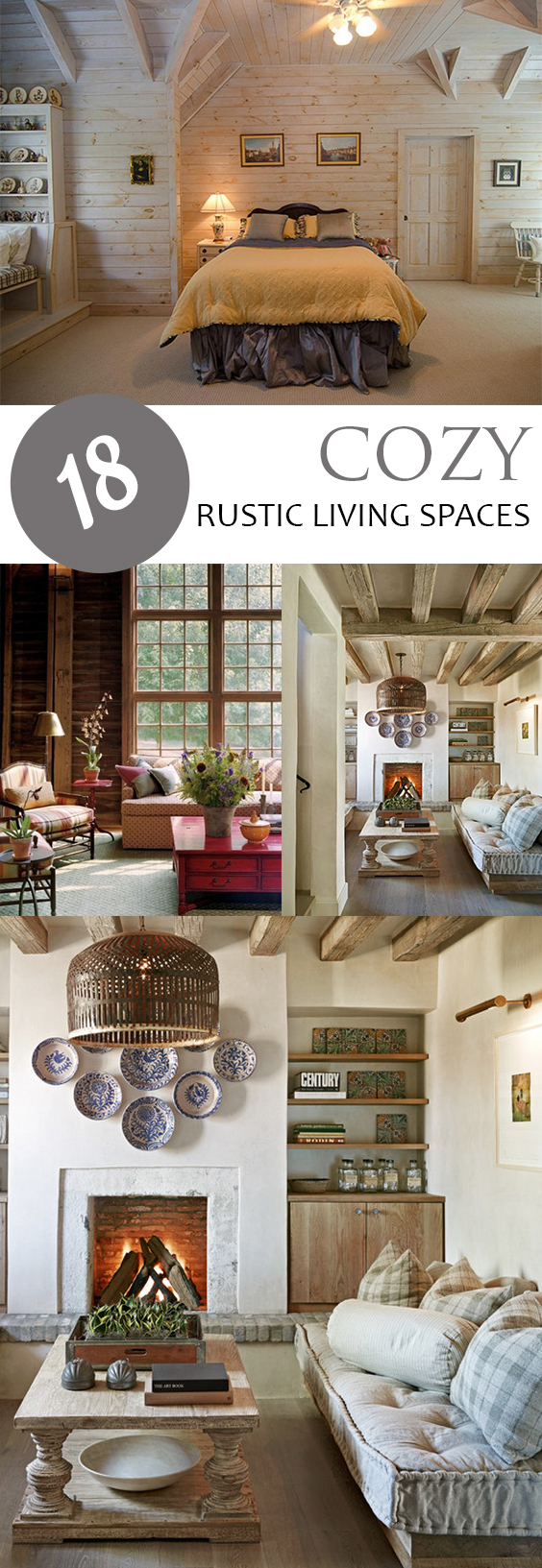 18 Cozy Rustic Living Spaces Pickled Barrel