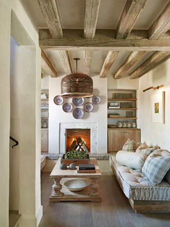 Rustic Living Spaces, Home Decor IDeas, Cozy Home, Cozy Home Ideas, Rustic Home, Interior Design Ideas, Beautiful Interior Design, Popular