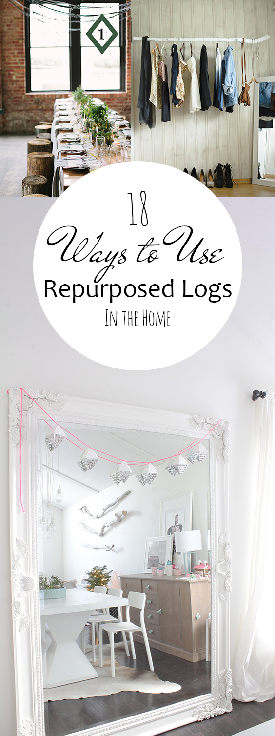 How to Repurpose Logs, Easy Home Decor, Home Repurpose Projects, Upcycling Projects, Easy Upcycling Projects, DIY Projects, Home Projects, Home DIY Projects, Popular