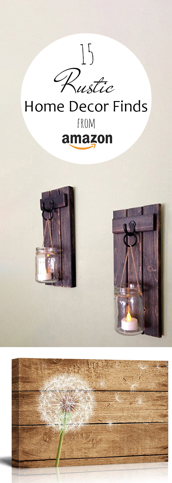 15 rustic home decor finds from amazon page 20 of 20 for Home decorations amazon