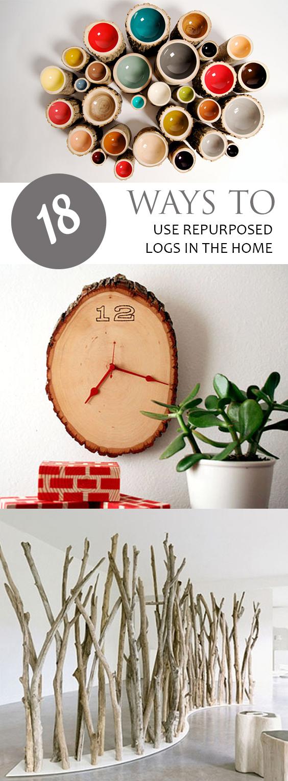 How to Repurpose Logs, Easy Home Decor, Home Repurpose Projects, Upcycling Projects, Easy Upcycling Projects, DIY Projects, Home Projects, Home DIY Projects, Popular
