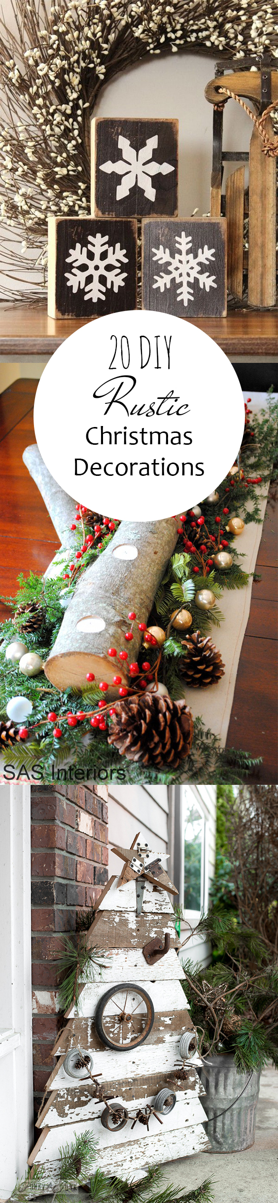 20 Diy Rustic Christmas Decorations Pickled Barrel