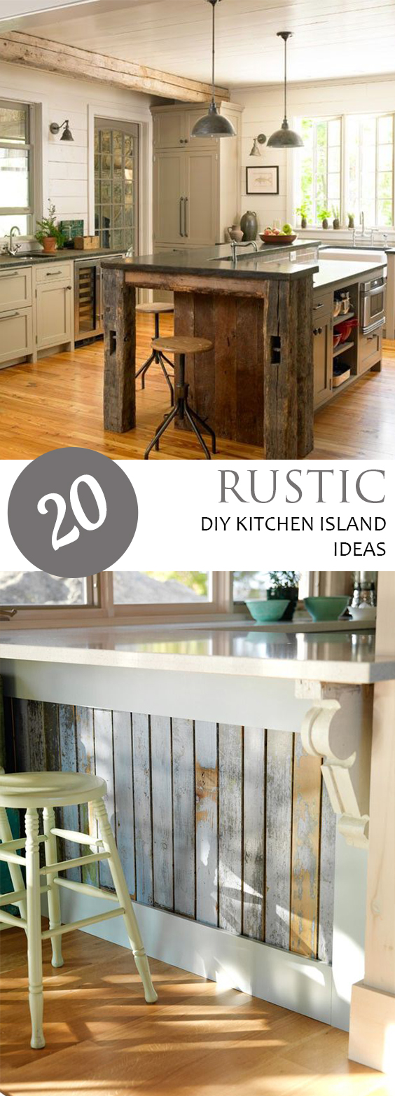 Top 29 Diy Ideas Adding Rustic Farmhouse Feels To Kitchen: 20 Rustic DIY Kitchen Island Ideas