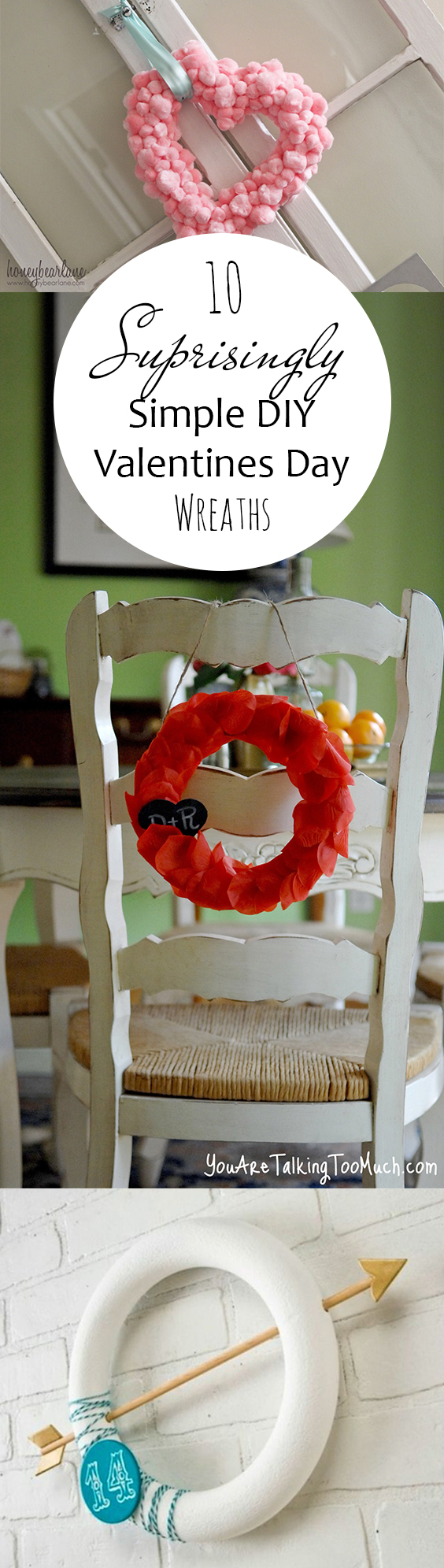 Valentines Day Wreaths, Easy Valentines Day Wreath Ideas, Valentines Day Ideas, Porch Decor, Easy Wreathes, DIY Porch Decor, How to Decorate Your Porch, Valentines Day Porch Decor