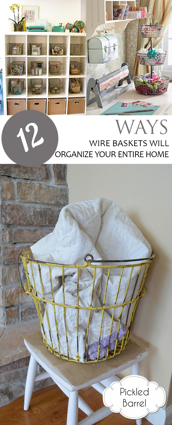 Wire Basket, Organizing With Wire Baskets, Organizing Wire Baskets, Home Organization, Home Organization Hacks, How to Organize With Wire Baskets, Easy Home Organization, Quick Home Organization, Popular Pin
