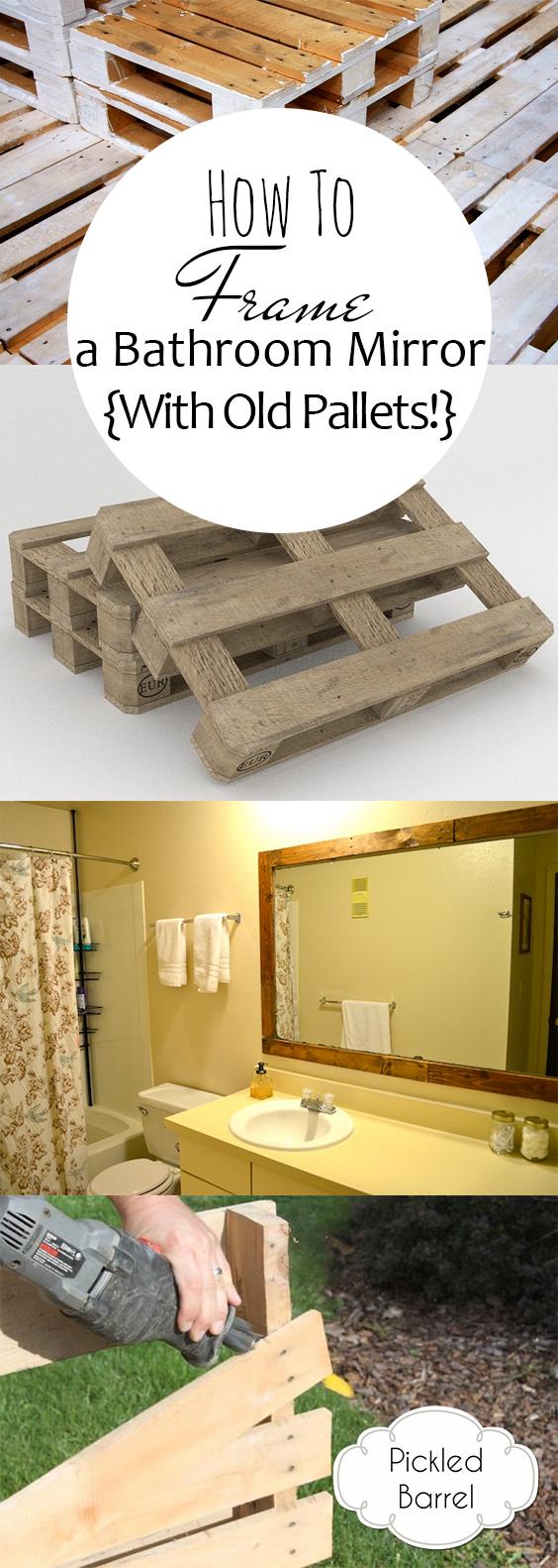 Bathroom Mirror, How to Frame A Bathroom Mirror, Bathroom Remodel, How to Remodel Your Bathroom, Quick Bathroom Remodel, DIY Bathroom Remodel