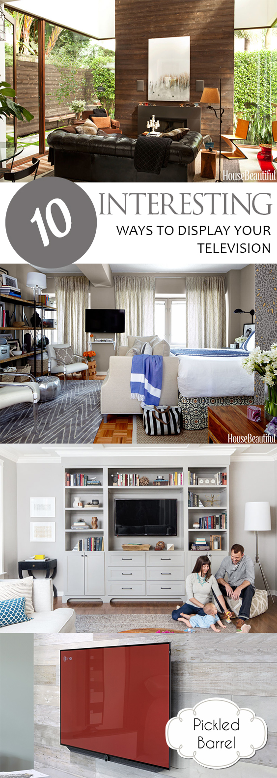 10 Interesting Ways to Display Your Television| How to Display Your Television, DIY Living Room, How to Decorate Your Living Room, Living Room Decor, How to Display a Television, Living Room Hacks, DIY Home, DIY Home Decor