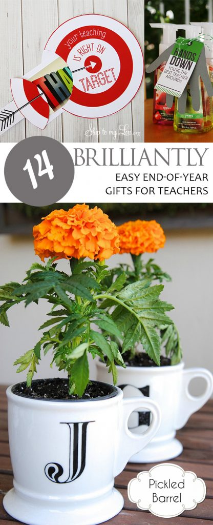 14 Brilliantly Easy End-of-Year Gifts for Teachers| Gifts for Teachers, End of Year Gifts, Gift Ideas, Handmade Gift Ideas, Homemade Gifts, DIY Gifts for Teachers, Gifts for Her, Popular Pin