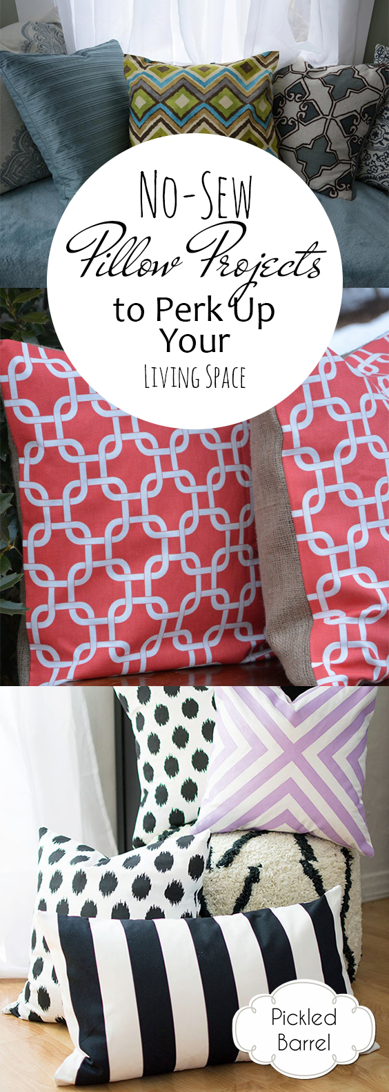 No-Sew Pillow Projects to Perk Up Your Living Space  No Sew Pillow Projects, No Sew Projects, Pillow Projects, DIY Pillow Projects, DIY Home, DIY Home Decor, DIY Home Decor Hacks, Sewing Projects, Fast Sewing Projects