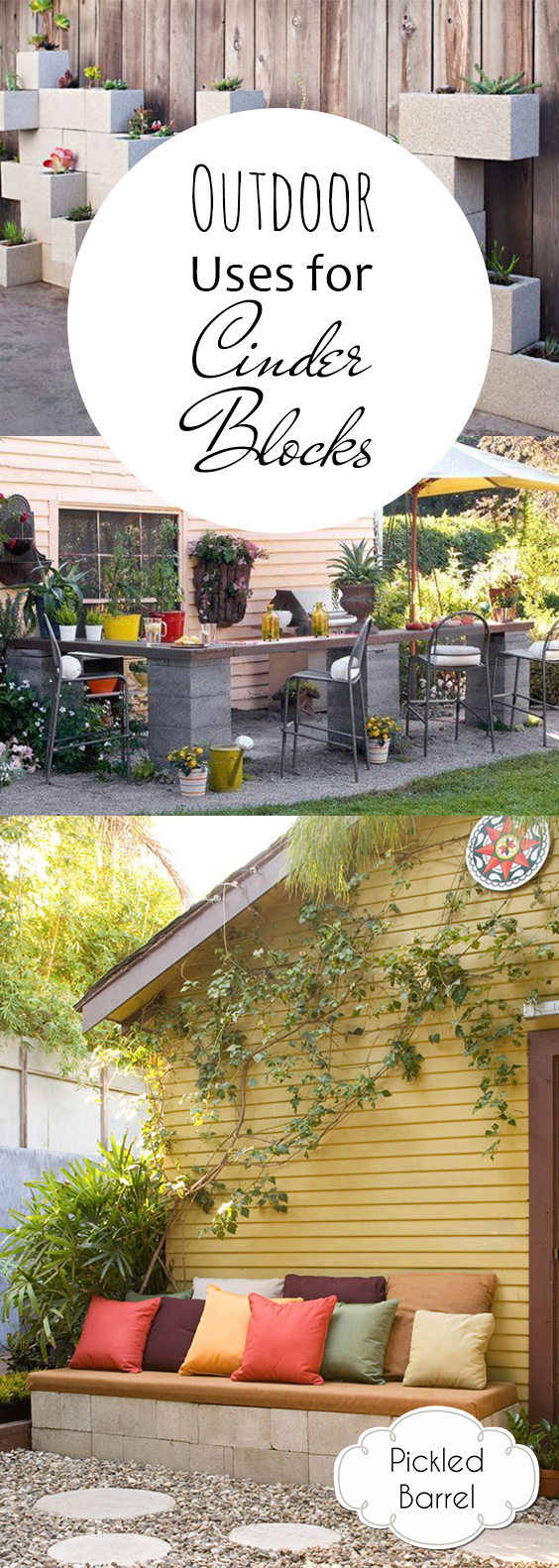 Outdoor Uses for Cinder Blocks  Cinder Blocks, How to Use Cinderblocks, Things to Do With Cinder Blocks, Crafting With Cinder Blocks, Outdoor Uses for Cinderblocks, Outdoor DIY Projects, Popular Pin, Outdoor Living