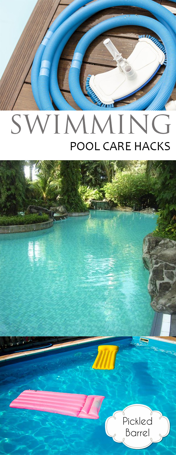 Swimming Pool Care Hacks| Swimming Pool Care, How to Care for Your Swimming Pool, Caring for Your Swimming Pool, Summer Care Hacks, Summer Hacks, Clean Your Swimming Pool Fast, Popular Pin
