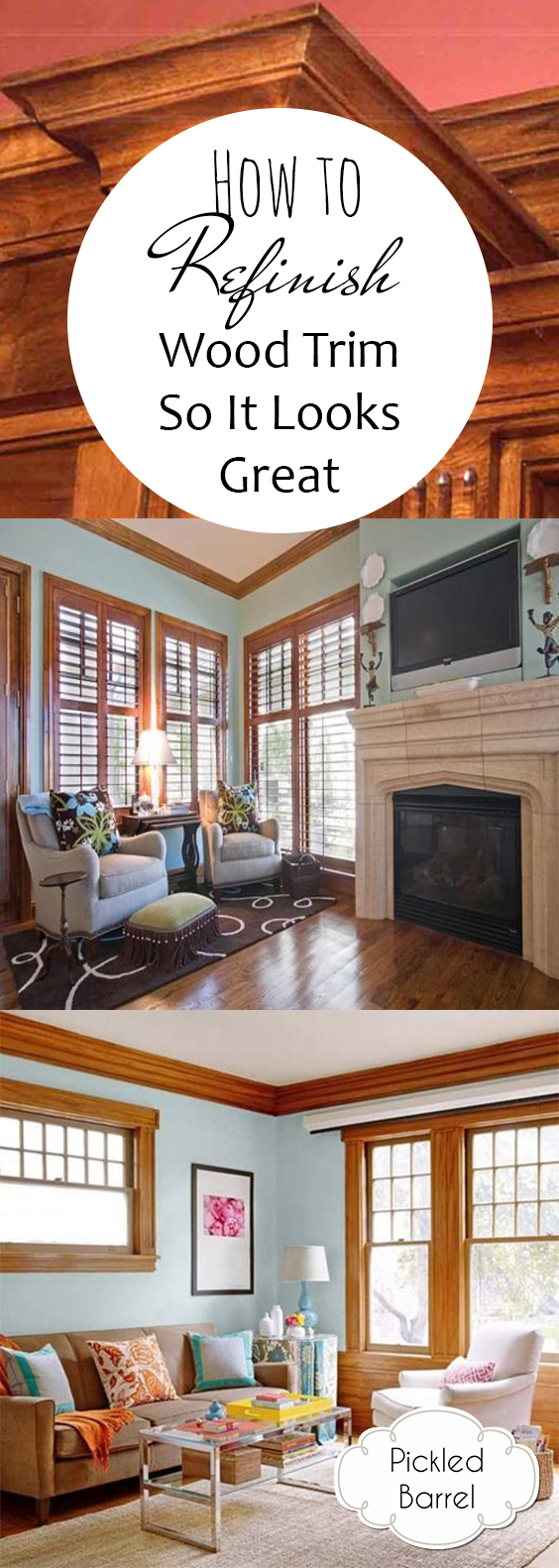 How to Refinish Wood Trim So It Looks Great| How to Refinish Wood, Refinishing Wood Trim, Fast Ways to Refinish Wood Trim, DIY Home, DIY Home Decor, DIY Home Improvement, Projects, Easy Home Improvement Projects, Simple Projects for the Home, Popular Pin