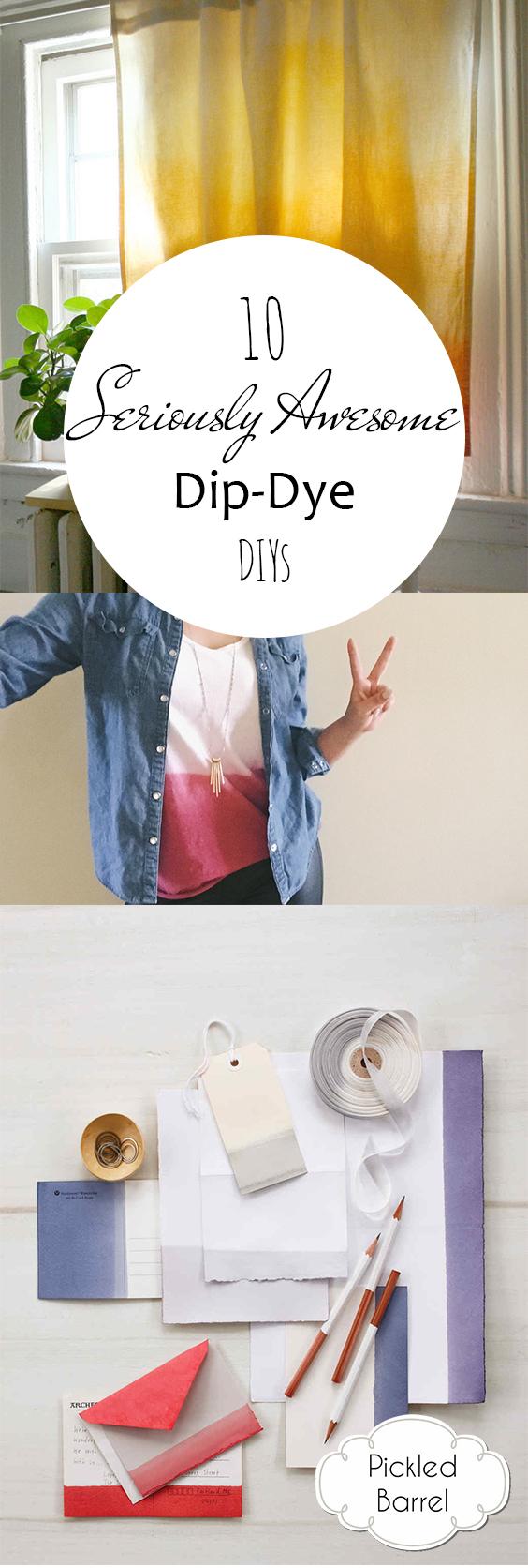 10 Seriously Awesome Dip-Dye DIYs| Dip Dye DIYs, Dip Dye DIY Projects, Dip Dye DIY Projects, Awesome Craft Projects, Easy Craft Projects, DIY Craft Projects, Simple Craft Projects.