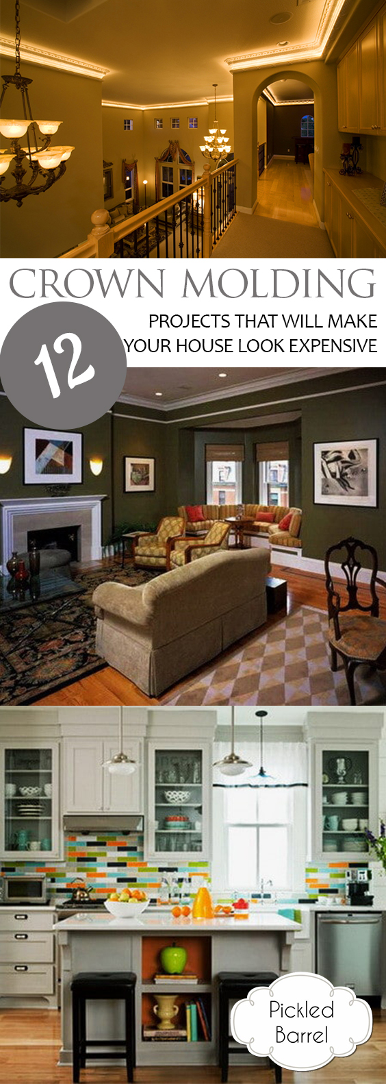 12 Crown Molding Projects That Will Make Your House Look Expensive| Crown Molding, Crow Molding Projects, DIY Crown Molding, Home Projects, Home Improvement Projects, DIY Home Hacks, Popular Pin