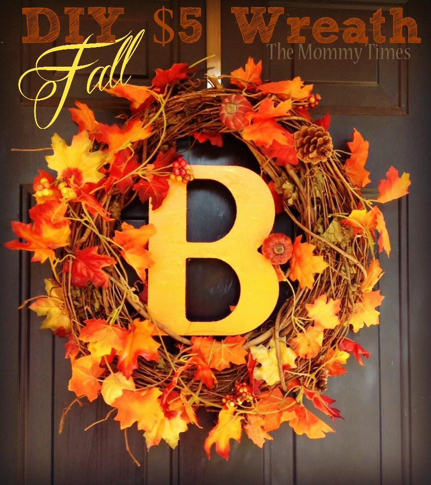 diy fall craft crafts easy autumn door decor wreath front wreaths decorations simple projects homebnc dollar decoration cheap initial pure