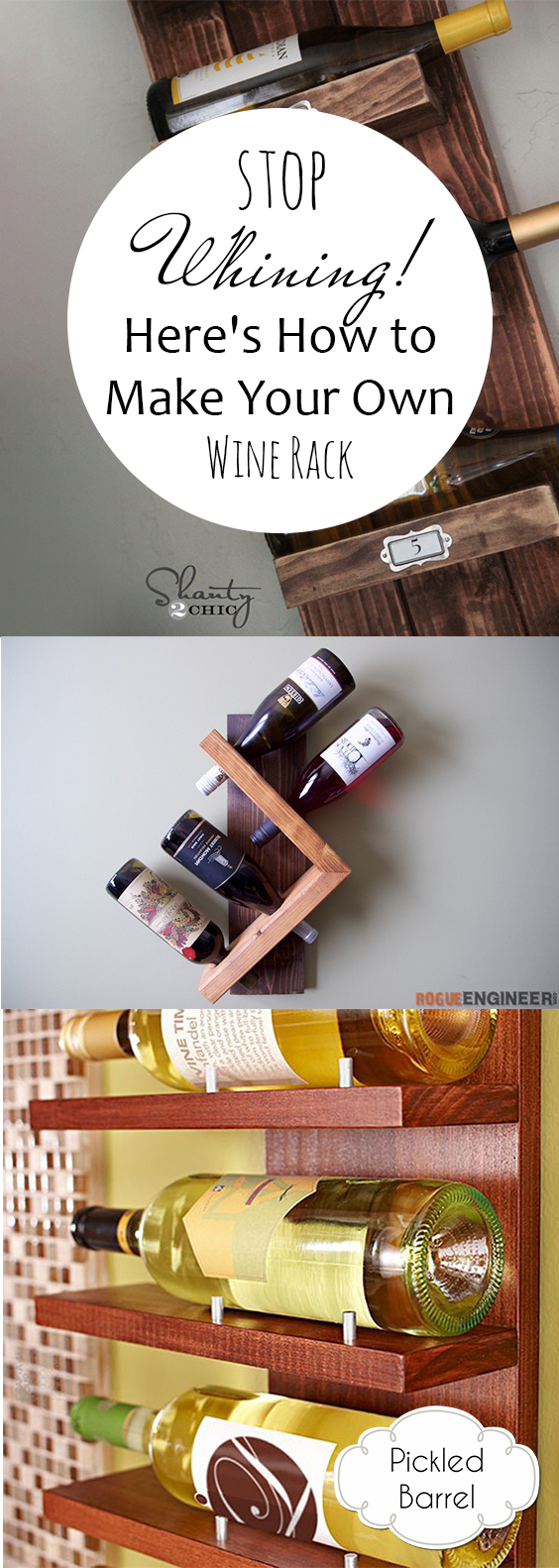 Stop Whining! Here's How to Make Your Own Wine Rack| DIY Wine Rack Wine Rack Projects, DIY Home, DIY Home Decor, Home Decor, How to Make Your Own Wine Racks, Wine Rack Projects, Home Decor Projects, Popular Pin