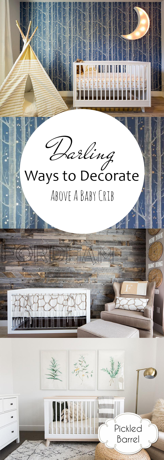 How to Decorate Above a Crib, Decorating Above A Crib, Nursery Decor, DIY Nursery Decor, How to Decorate A Nursery, Decorating A Nursery, Baby's Room