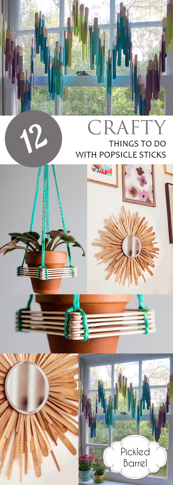 12 Crafty Things to Do With Popsicle Sticks| Popsicle Crafts, Popsicle Stick Craft Projects, Craft Projects for the Home, Repurpose Crafts, Repurpose Crafts for the Home, Crafts, Fun Craft Projects, Popsicle Stick Crafts, Popular