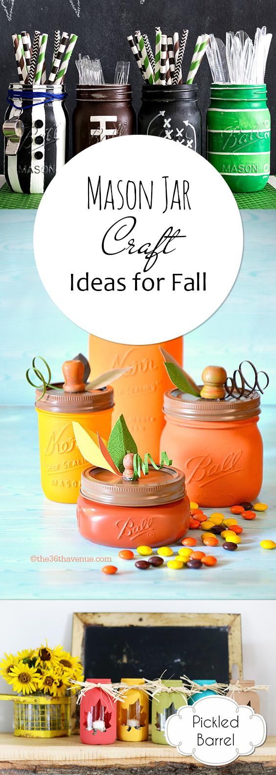 Mason Jar Crafts, Mason Jar Crafts for Fall, Fun Crafts for Fall, Fun Fall Crafts, Mason Jar Craft Projects, Fall Craft Projects, Fall DIYs, Fall DIY Projects, Popular Pin, Holiday Crafts