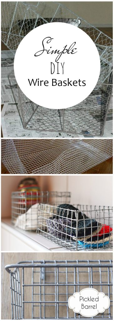 Simple DIY Wire Baskets| DIY Wire Baskets, DIY Storage Baskets, Homemade Wire Baskets, Handmade Wire Baskets, DIY Storage Baskets, Popular Pin