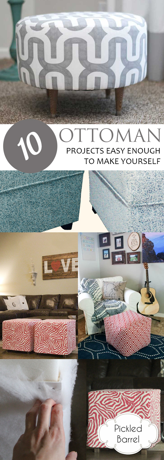 10 Ottoman Projects Easy Enough to Make Yourself| Ottoman DIY, DIY Ottoman, Ottoman Decor, DIY Ottoman Decor, Easy Ottoman, How to Make Your Own Ottoman, Ottoman Decor, Home Decor, DIY Home Decor, DIY Home, DIY Home Decor Projects, Popular Pin