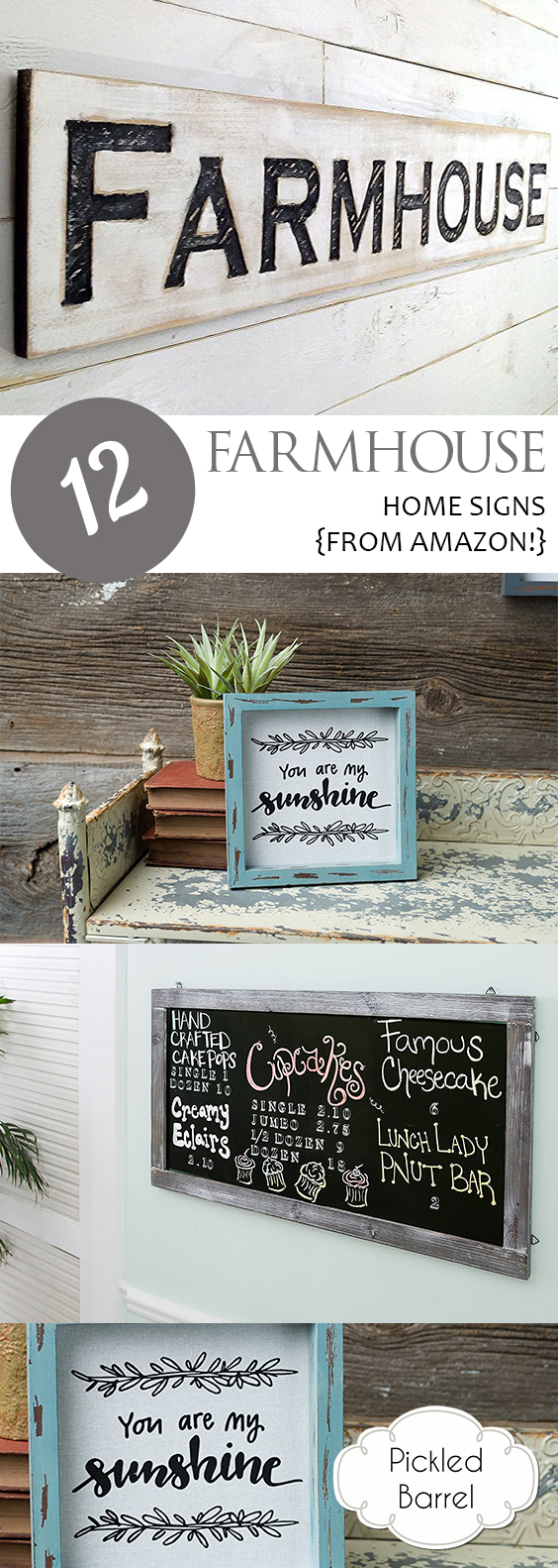 12 Farmhouse Home Signs {from Amazon!} | Farmhouse, Farmhouse Home Decor, Farmhouse DIY, DIY Farmhouse Decor, Farmhouse Home Decor, Farmhouse Signs, Wall Hangings, DIY Wall Hangings #FarmhouseHome #DIYFarmhouseDecor #FarmhouseDIY #RusticHome