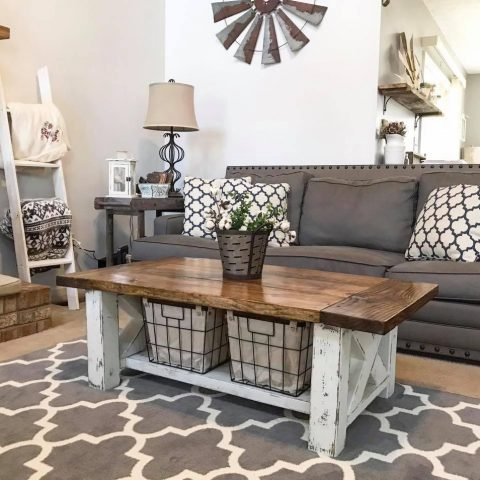 Create A DIY Rustic Coffee Table| Coffee Table DIY, DIY Coffee Table Tutorials, How to Make Your Coffee Table, Coffee Table Decor Ideas, Farmhouse Coffee Table, DIY Farmhouse Coffee Table, Painted Coffee Table, Rustic Coffee Table, DIY Rustic Coffee Table, Popular Pin