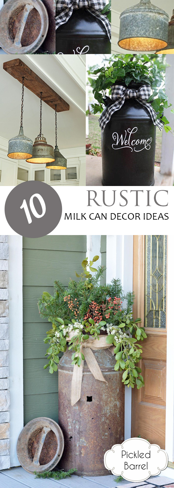 10 Rustic Milk Can Decor Ideas| Rustic Milk Can Decor, Rustic Home Decor, DIY Rustic Home Decor, Home Decor Hacks, DIY Home Decor, Simple Rustic Decor, Farmhouse Decor, Farmhouse Decor Hacks, DIY Home #RusticHome #FarmhouseHomeDecor