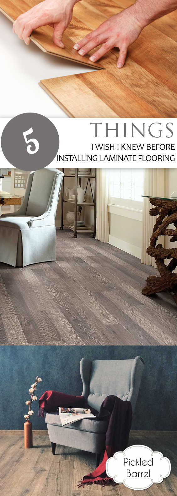 5 Things I Wish I Knew Before Installing Laminate Flooring| Laminate Flooring, How to Install New Flooring, Home Flooring, Home Remodel, Home Remodeling Tips #LaminateFlooring #Flooring #HomeFlooring