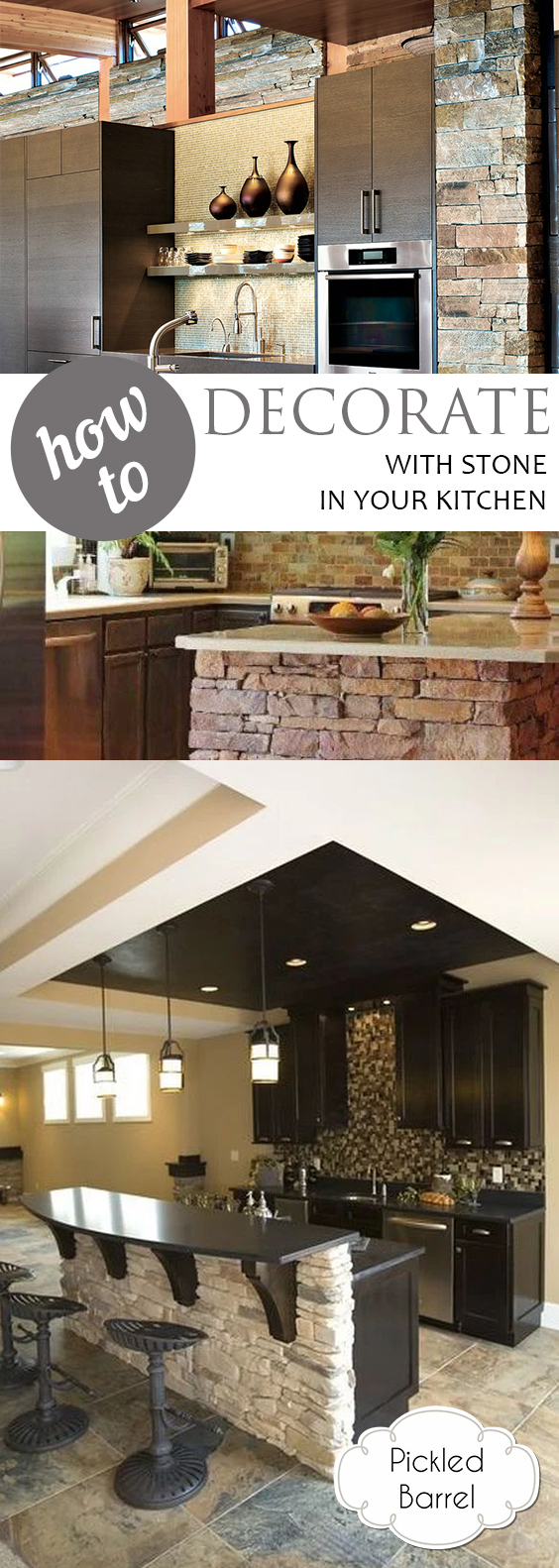 How To Decorate With Stone In Your Kitchen| Kitchen, Kitchen Decor, Kitchen  Decor