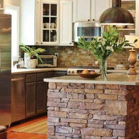 How to Decorate With Stone in Your Kitchen| Kitchen, Kitchen Decor, Kitchen Decor Ideas, DIY Kitchen, DIY Kitchen Hacks, Home Improvements #KitchenDIYs #Kitchen #KitchenRemodel