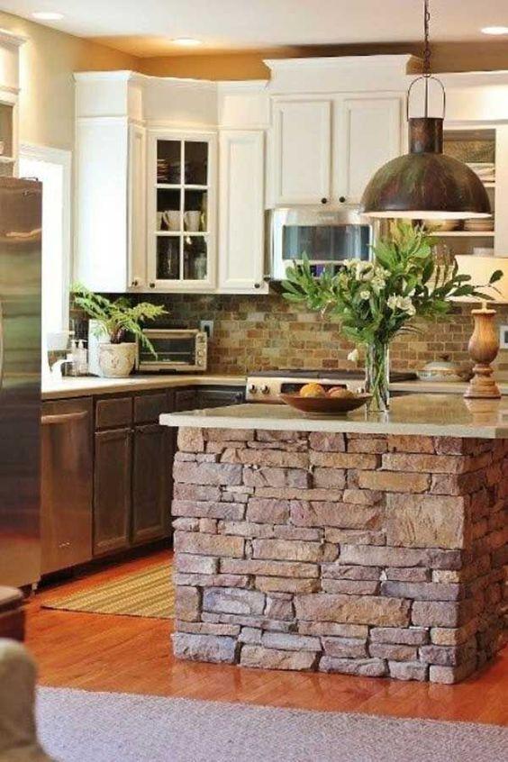 How to Decorate With Stone in Your Kitchen| Kitchen, Kitchen Decor, Kitchen Decor Ideas, DIY Kitchen, DIY Kitchen Hacks, Home Improvements #KitchenDIYs #Kitchen #KitchenRemodel