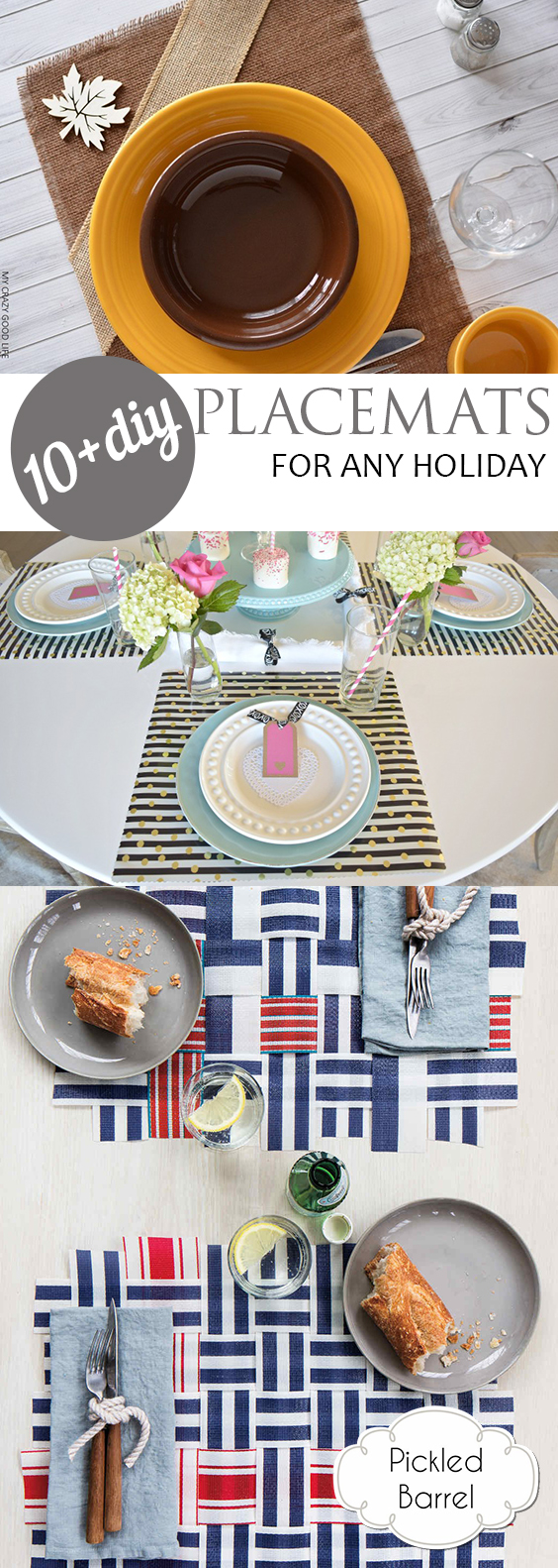 10+ DIY Placemats for Any Holiday| Placemats, DIY Placemats, Holiday Placemats, DIY Home, DIY Home Decor, Home Decor Hacks, Popular Pin #HomeDecor #DIYHome