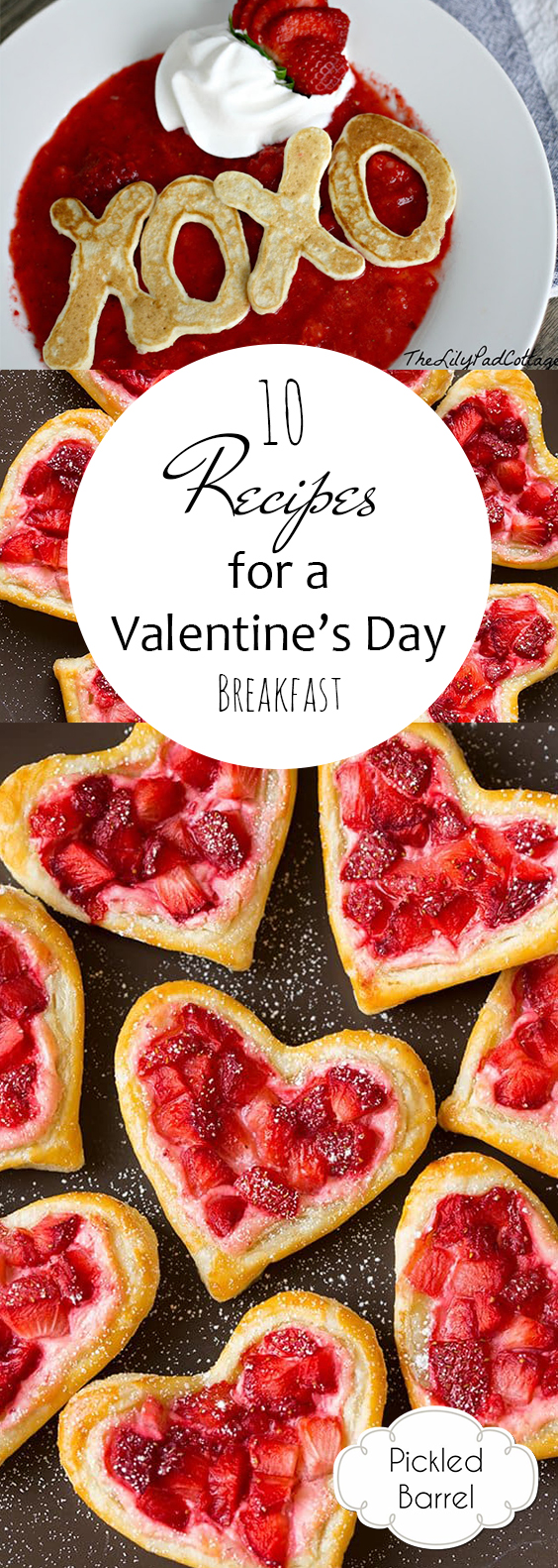 10 Recipes for a Valentines Day Breakfast| Breakfast, Breakfast Recipes, Valentines Day Recipes, DIY Valentines Day, Holiday Eats, Popular Pin #ValentinesDay #Breakfast