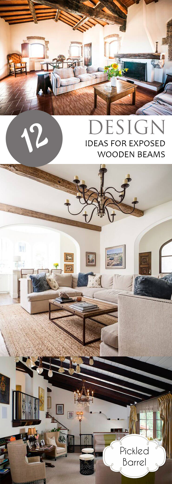 12 Design Ideas for Exposed Wooden Beams| Exposed Wooden Beams, Exposed Beams, DIY Home, Rustic Home, Rustic Home Decor, Popular Pin #ExposedBeams #DIYHome #RusticHome