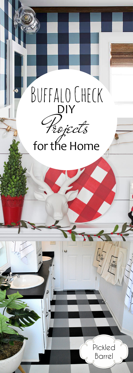 Buffalo Check DIY Projects for the Home| DIY Projects, Buffalo Checkered Projects, Buffalo Plaid Home Decor, DIY Home Decor, Popular Pin #DIYProjects #BuffaloPlaid