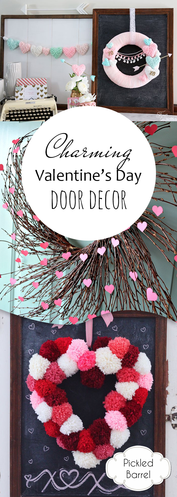 Charming Valentines Day Door Decor| Valentines Day Door Decor, Porch Decor, DIY Porch Decor, Holiday Porch Decor, Valentines Day DIYs, DIY Home Decor, Popular Pin #PorchDecor #ValentinesDay