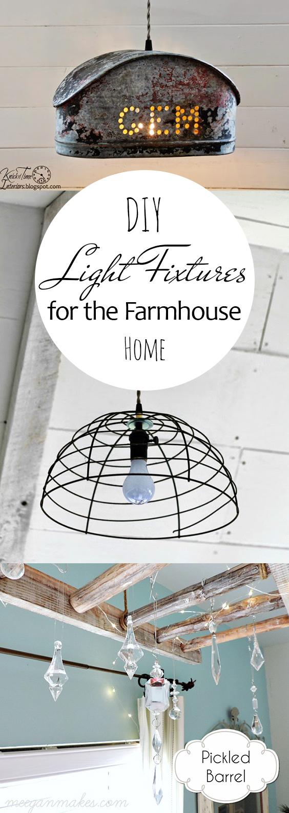 Diy light fixtures for the farmhouse home pickled barrel - Make your own light fixtures ...