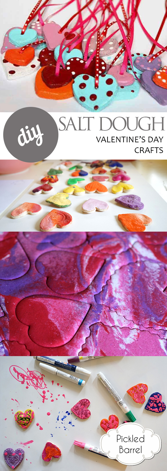 DIY Salt Dough Valentines Day Crafts| Valentines Day Crafts, Easy Crafts, Holiday Craft Ideas, Kids Crafts, Kid Stuff, Popular Pin #HolidayCrafts #KidStuff