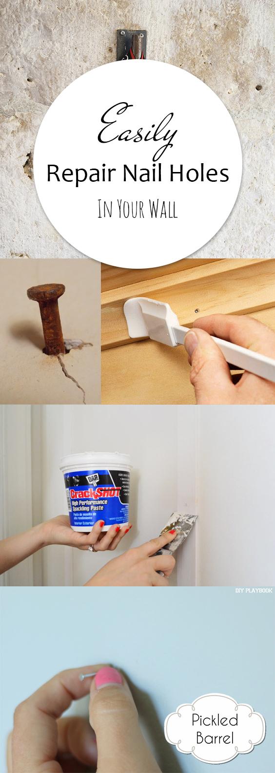 Easily Repair Nail Holes in Your Wall| Home Improvement, Home Improvement Hacks, DIY Home, DIY Home Improvements, Easy Home Improvement Hacks, Home Decor DIYs, Popular Pin #HomeImprovements #HomeDecor