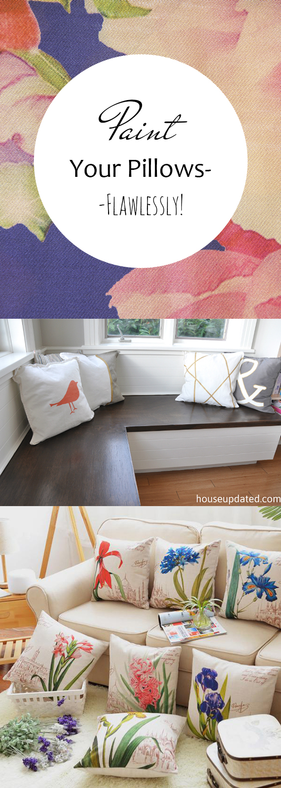 Paint Your Pillows–Flawlessly!| DIY Home, DIY Pillows, DIY Home Pillows, Home Decor, Home Decor Hacks, Pillows for Your Home, DIY Home Decor, Crafts for the Home #DIYHome #HomeDecor #DIYPillows