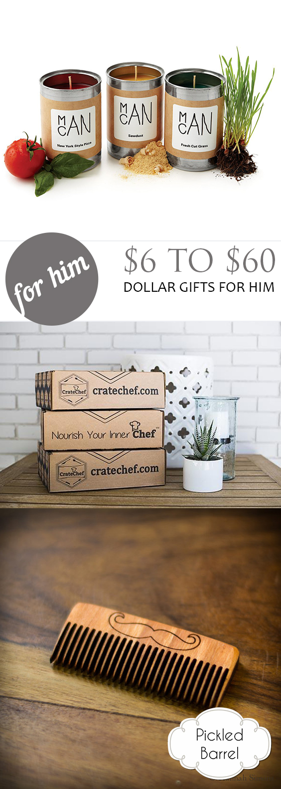 $6 to $60 Dollar Gifts for Him| Gifts, Gifts for Him, Inexpensive Gifts for Him, Cheap Gifts for Him, DIY Gifts, Creative Gift Ideas for Him, Valentines Day Gifts for Him #GiftsforHim #CheapGifts #DIYGifts