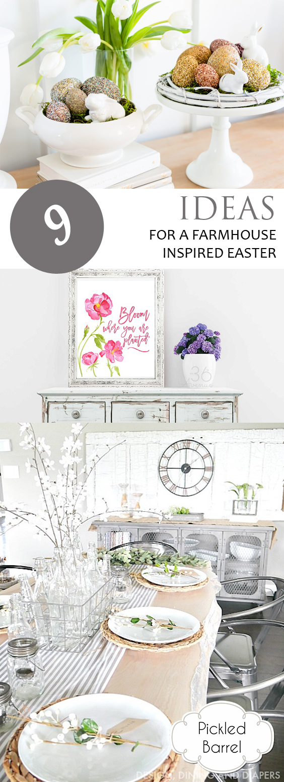 9 Ideas for a Farmhouse-Inspired Easter| Farmhouse, Farmhouse Easter, Farmhouse Easter Decor, Easter Decor, DIY Easter Decor, Farmhouse Home, Farmhouse Home Decor, DIY Farmhouse Home #FarmhouseHome #DIYFarmhouseHome #Easter