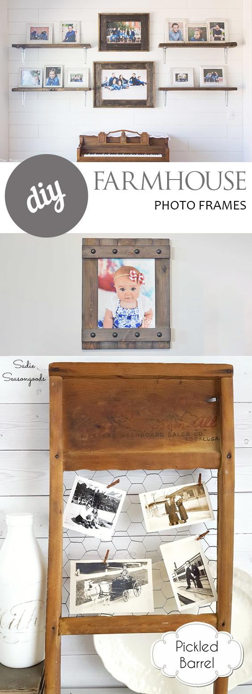DIY Farmhouse Photo Frames| DIY Farmhouse, Farmhouse Picture Frames, DIY Home, Farmhouse Home, Farmhouse Home Decor, DIY Picture Frames, Picture Frames, Rustic Picture Frames, DIY Home, Popular Pin #DIYPictureFrames #PictureFrames #Farmhouse